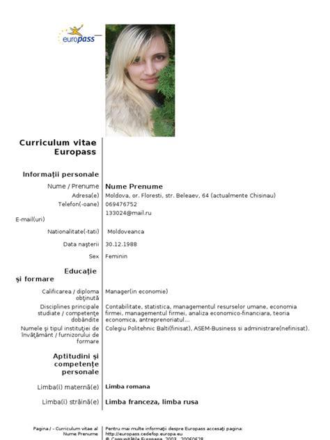 Curriculum vitae format doc romana 7 best images of sample resume curriculum vitae format doc romana best resume summary of yelopaper Images
