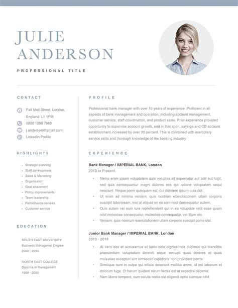 Cv template british style gallery certificate design and template cv sample for bank temping a backdoor entrance to new careers yelopaper