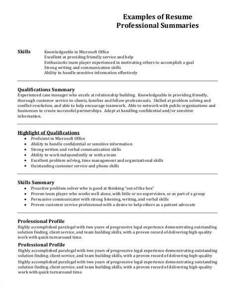 cv sample profile professional profile resume templates resume genius - Sample Profile For Resume