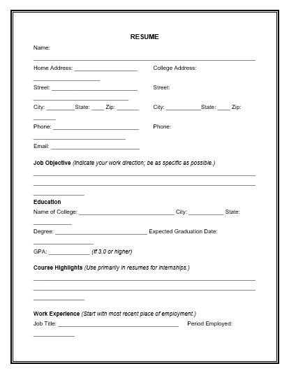 Cv Template Xls Download Emergency Contact Form Templates For Free Tidyform