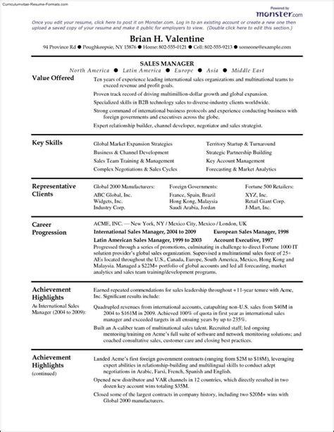 cv templates monster resume samples monster