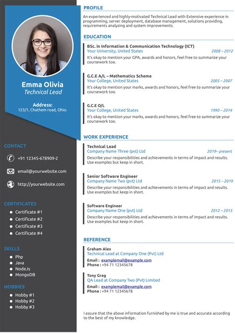 Cv Writer Editor Cv Template Free Download And Software Reviews Cnet