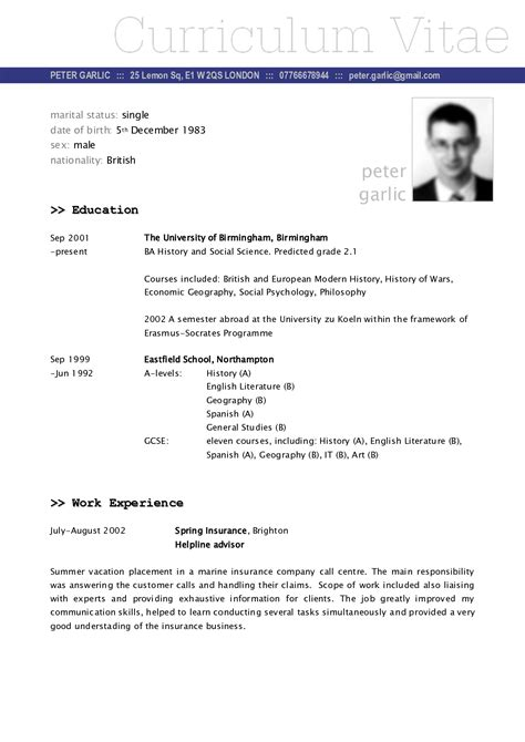 graduate financial advisor CV  A popular CV template design that is well laid out and looks professional