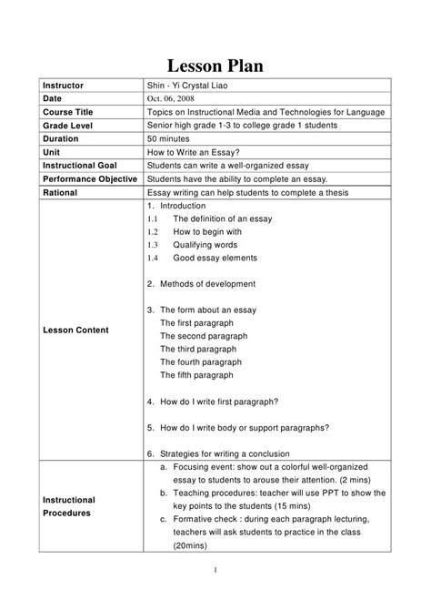 Writing a cv esl lesson plan   Order Custom Essay Online