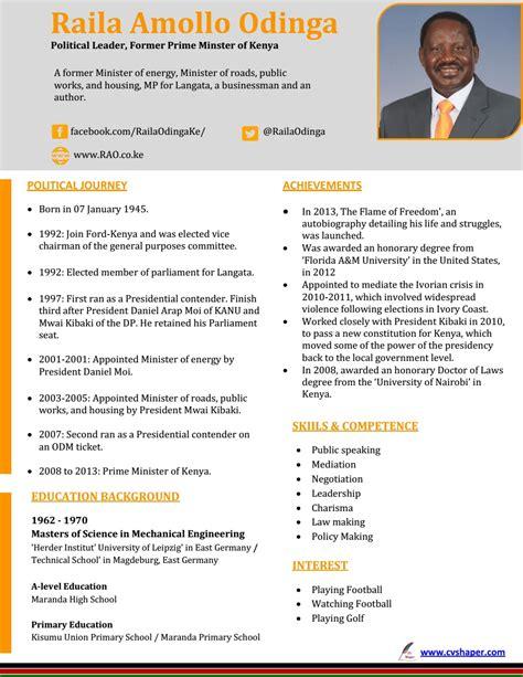kenyan application letter format