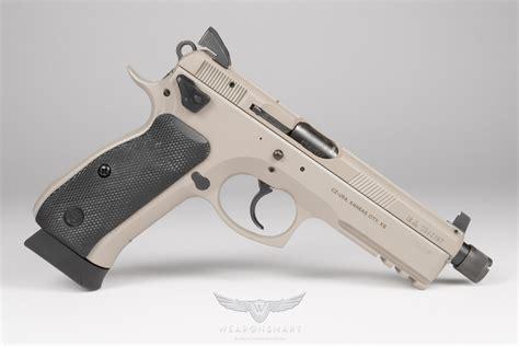 Slickguns Cz-75 Sp-01 Urban Grey Tactical Suppressor Ready 9mm Slickguns.