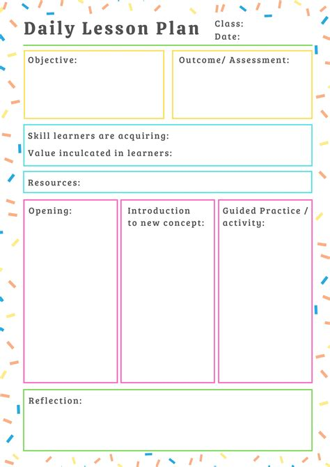 resume lesson plan daily lesson plan template for teachers document templates