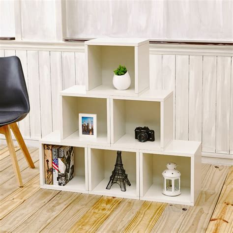 Daniell Stackable Organizer Cube Unit Bookcase (Set of 6)