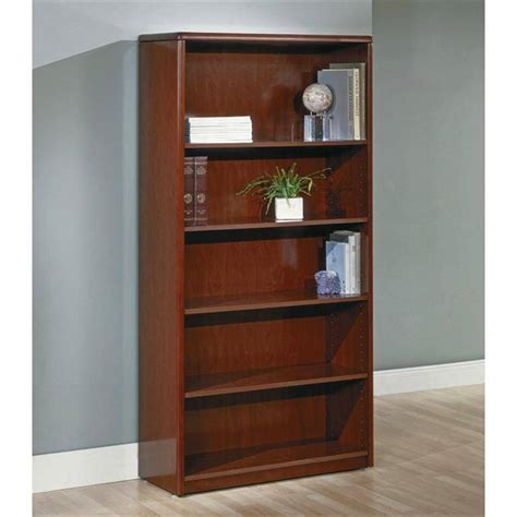 dark cherry bookcases