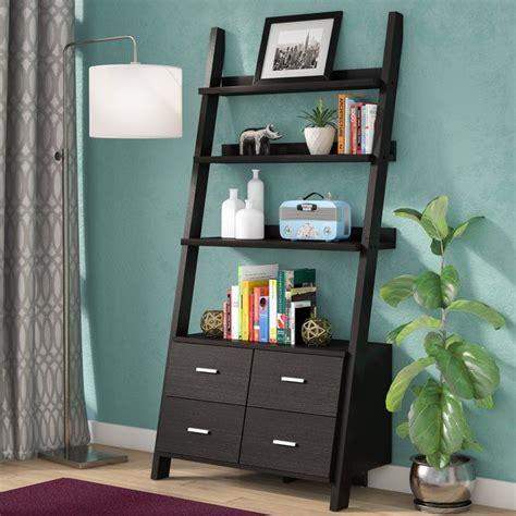 Dark Cappuccino Ladder Bookcase