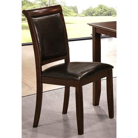 Dark Cherry Upholstered Dining Chair (Set of 2)