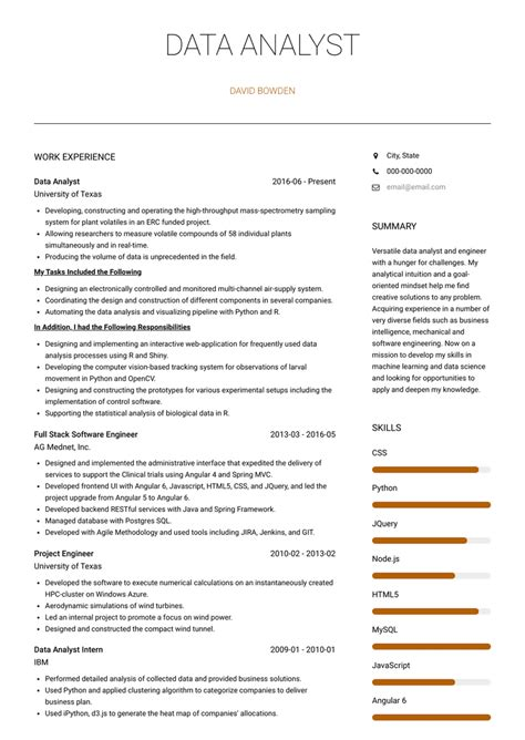 text analytics resume data analyst resume samples visualcv
