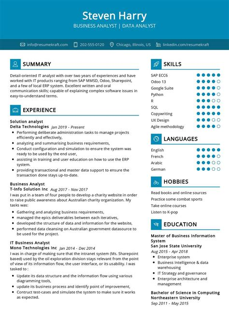 data analyst resume sample for freshers sample resume business analyst resume exforsys