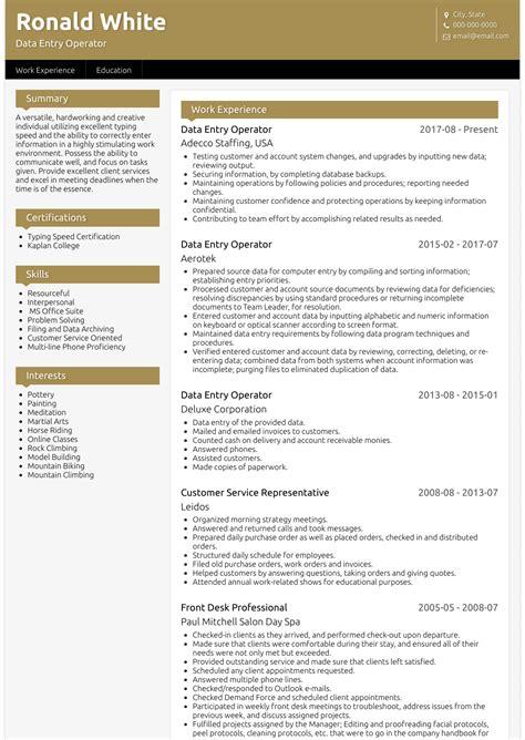 sample resume for fresher data entry operator data entry operator resume format free download - Sample Resume For Data Entry