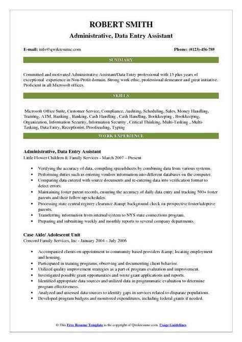 data entry sample resume australia sample administrative assistant resume and tips - Data Entry Sample Resume