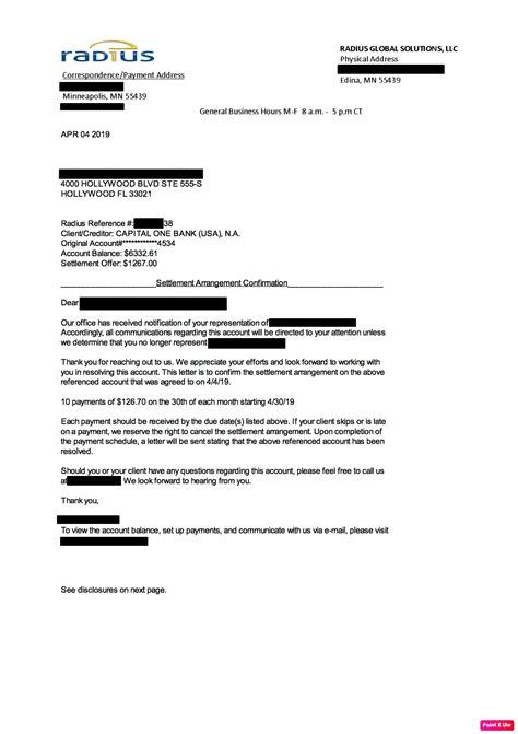 settlement letter definition debt settlement letters from clients sample settlement letter