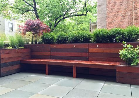 Deck Benches With Planters