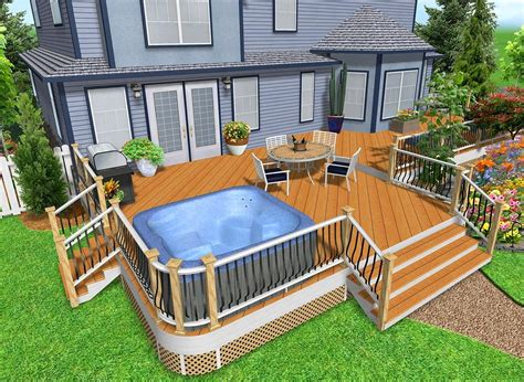 Deck Design With Hot Tub