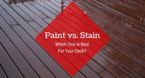 Deck Paint Vs Stain