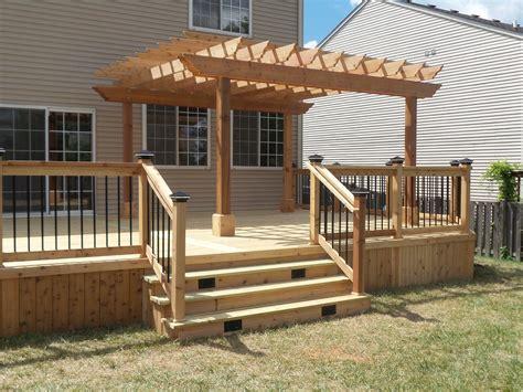 Deck Plans With Pergola
