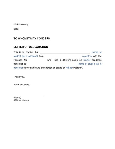 Declaration Letter To Insurance Company Sample Letters To Use With Insurance Companies