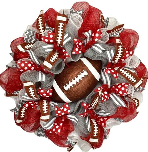 Deco Mesh Wreath Football  Ebay.