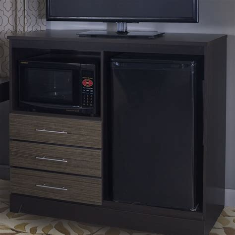 Deco Combination Mini Refrigerator and Microwave Accent Chest
