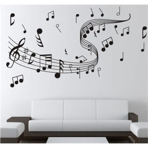 Decoration Autocollante Pour Voiture Stickers Note De Musique Achat   Vente Pas Cher