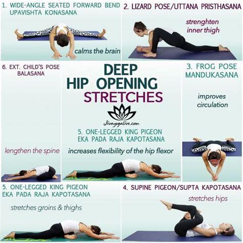 deep hip flexor exercises and stretches