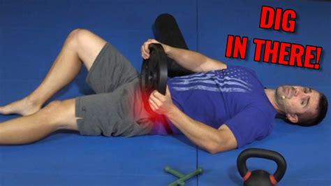 deep hip flexor massages