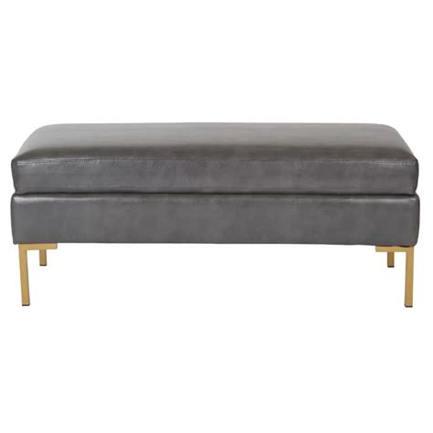 Delahunt Faux Leather Bench