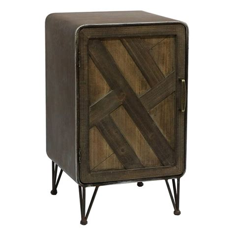 Delicia Wood and Metal 1 Door Accent Cabinet