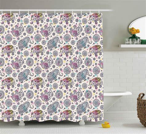 Delmer Bohemian Oriental Figure Shower Curtain