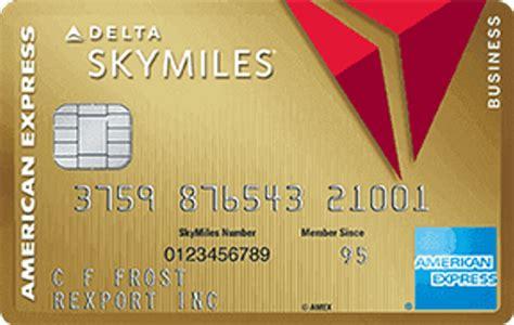 Delta Business Credit Card Visa Gold Delta Skymilesr Credit Card From American Express