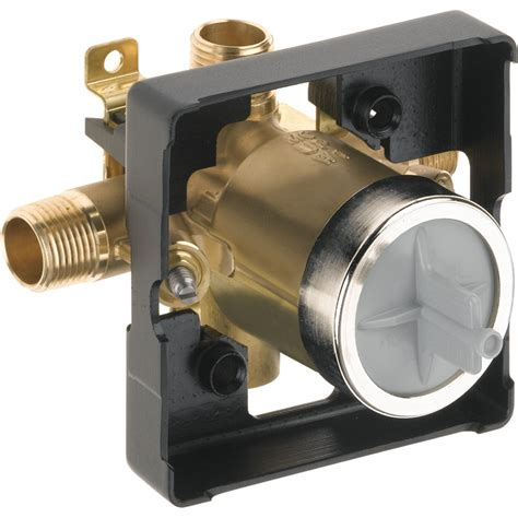 Delta MultiChoice Universal Mixing Rough-In Valve with Service Stops and High-Flow - No Tub Port