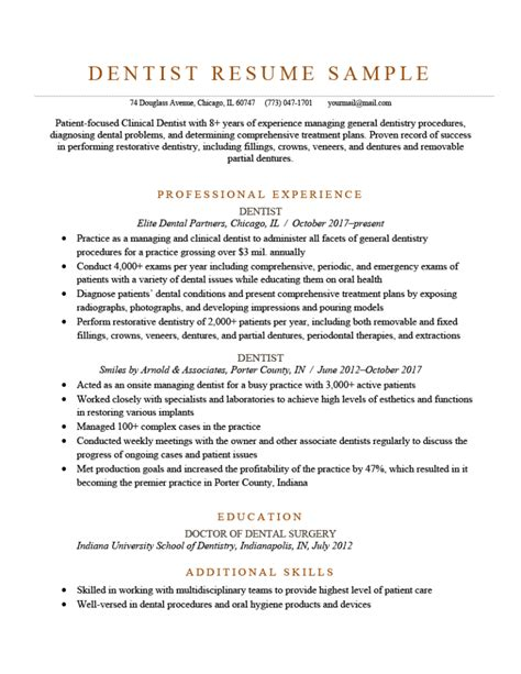 sample resume for dental sales representative dental resume format with samples best sample resume dental