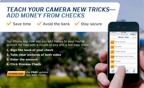 Credit Card Scanner For Iphone Paypal Deposit A Check Via Paypals Iphone Or Android Smartphone