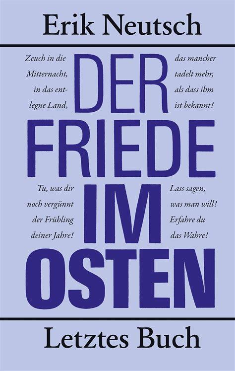 Read Books Der Friede im Osten: Letztes Buch Online
