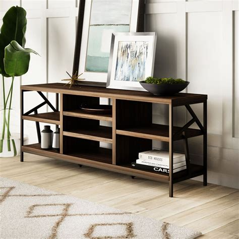 Derwood Metal Distressed Storage Console Table