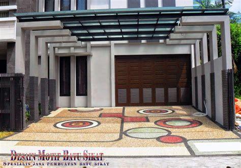 Desain Carport Batu Sikat