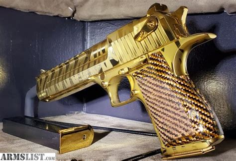 Desert-Eagle Desert Eagle 44 Mag Gold For Sale.