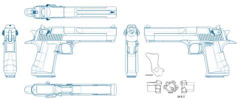Desert-Eagle Desert Eagle Gun Blueprint.
