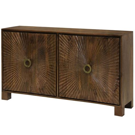 Destin Starburst Embossed 4 Door Accent Cabinet