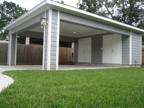 Detached Carport With Storage Area