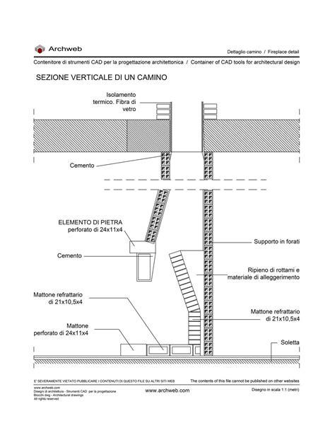 Dettaglio Camino Dwg