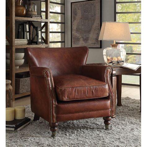 Devyn Top Grain Leather Club Chair