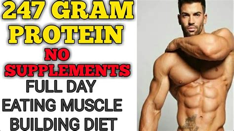 diet plan for muscle building without supplements