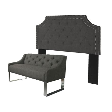 Difranco Upholstered Wingback Headboard and Bench