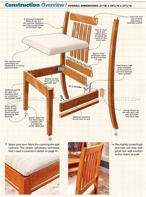 dining chair plans woodworking