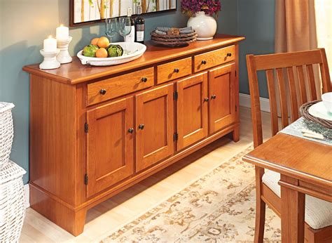 Dining Room Buffet Woodworking Plans